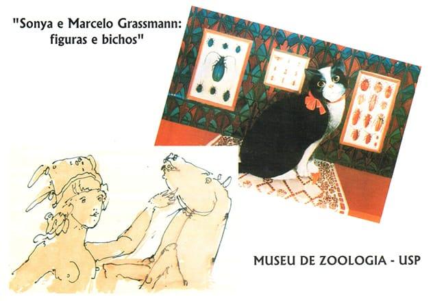 Sonya e Marcelo Grassmann: figuras e bichos